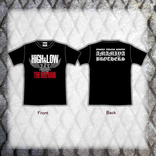 HiGH&LOW THE RED RAIN Tシャツ