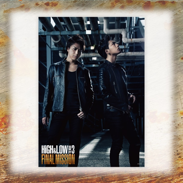 HiGH&LOW THE MOVIE 3 / FINAL MISSION 雨宮兄弟クリアポスター